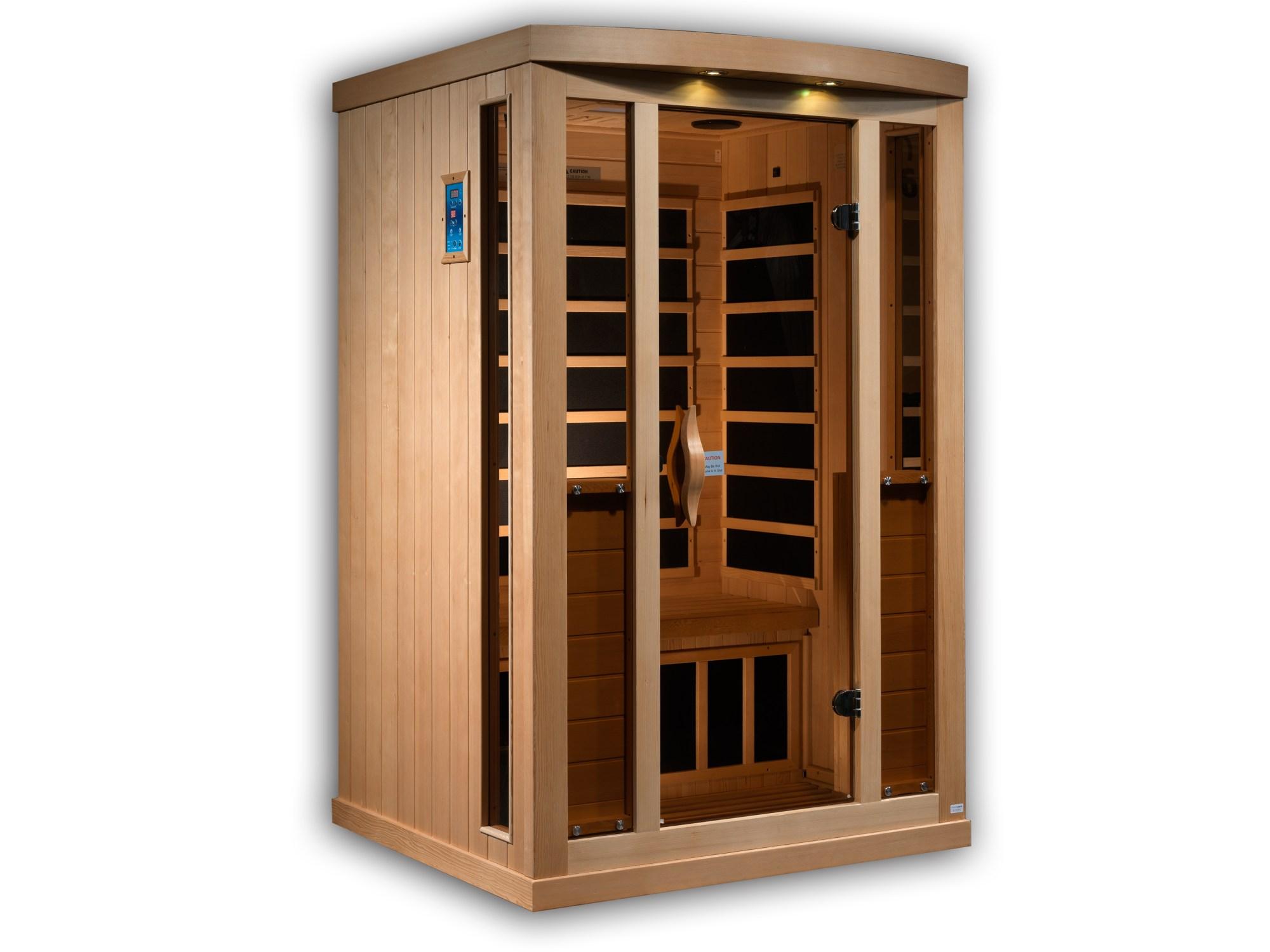 hight resolution of the sunrise 2 person full spectrum medical grade sauna celebration saunas infrared saunas best quality home saunas