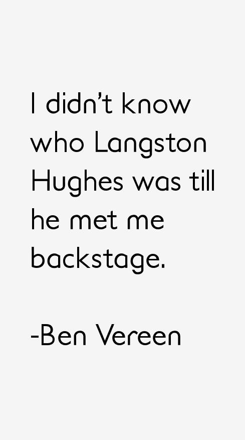 Ben Vereen Quotes & Sayings