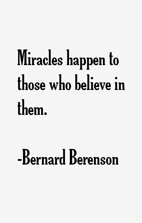 Bernard Berenson Quotes & Sayings