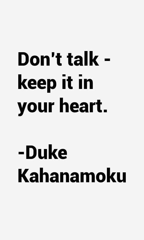 Duke Kahanamoku Quotes & Sayings