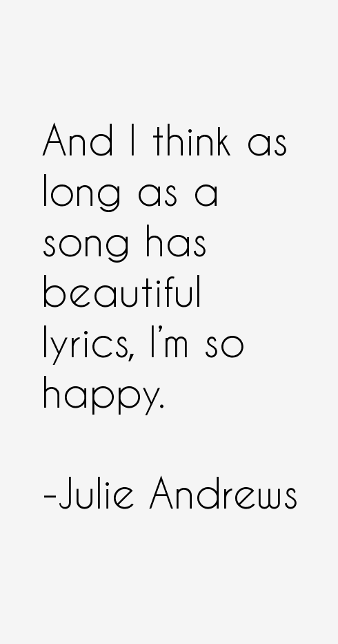 Julie Andrews Quotes & Sayings