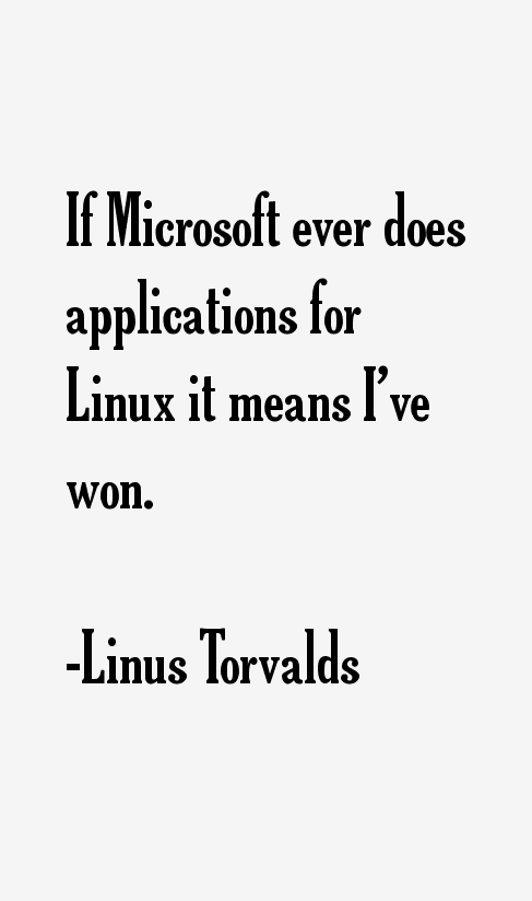 Linus Torvalds Quotes & Sayings