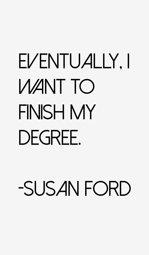 Susan Ford Quotes & Sayings