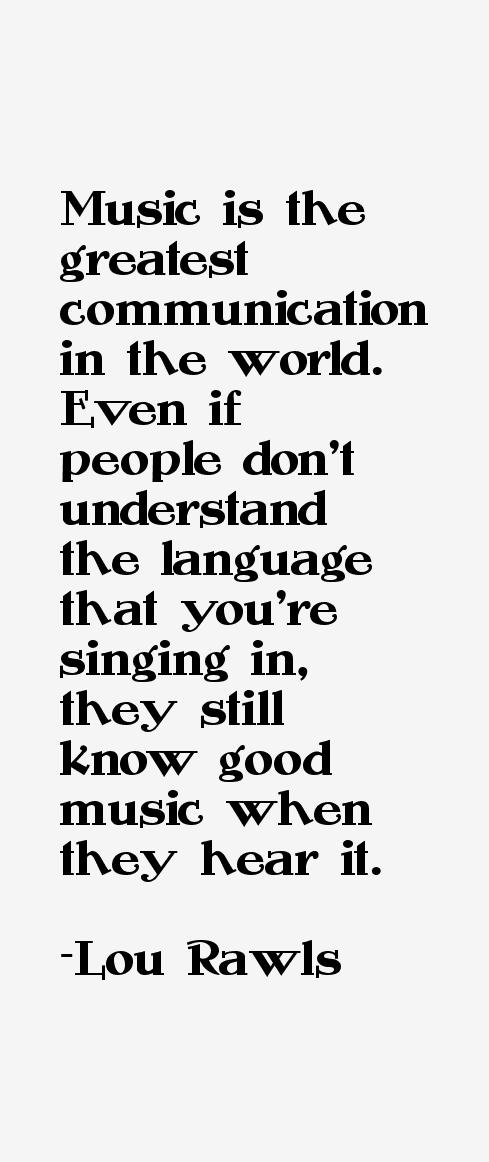 Lou Rawls Quotes & Sayings