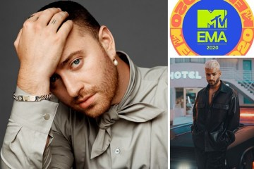 Sam Smith y Maluma cantarán en los MTV EMA 2020