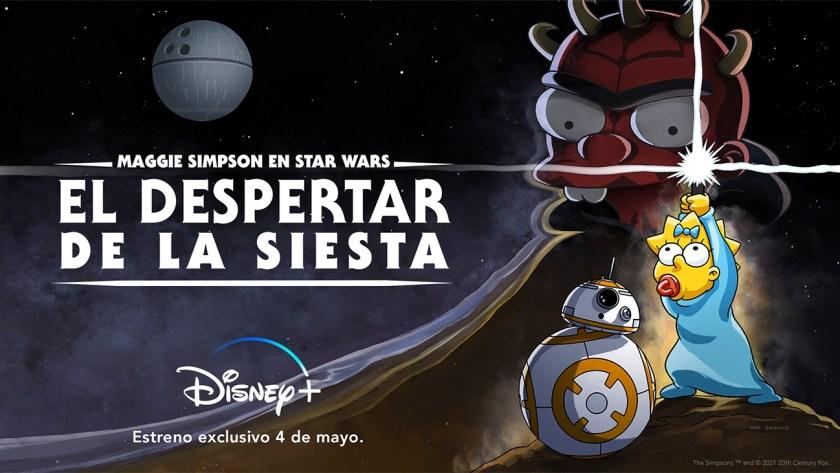Maggie Simpson en los festejos del Star Wars Day 2021
