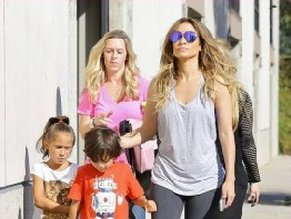 Jennifer Lopez and her Twins
