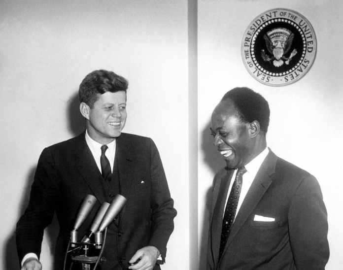 President John F Kennedy Meets with the President of the Republic of Ghana Osagyefo Dr Kwame Nkrumah
