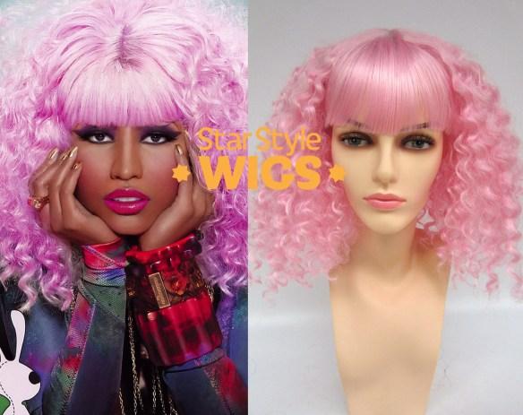 Nicki Minaj Pink Afro Wig