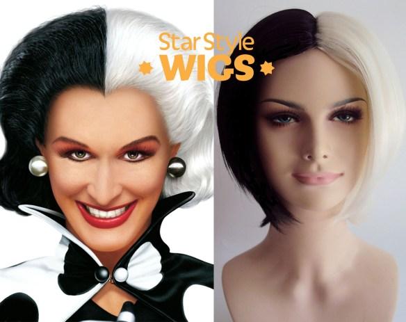 Cruella De Vil Costume Wig