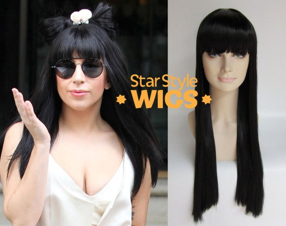 Lady Gaga Long Black Wig