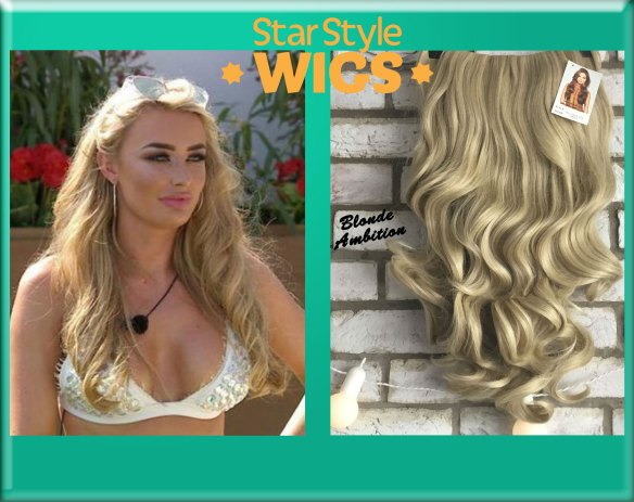 Blonde Curly Half Wig