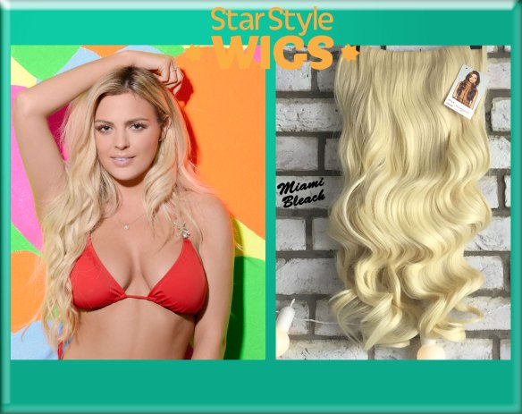 Bleach Blonde Half Wig Hairpiece