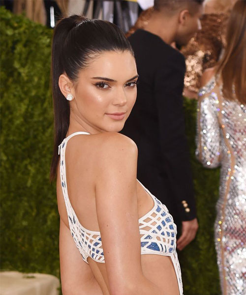 Kendall Jenner Sleek High Ponytail