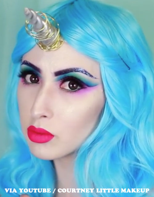UNICORN MAKEUP BLUE WIG