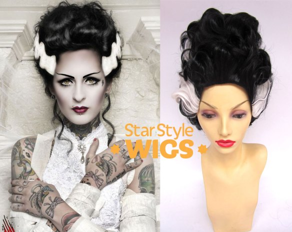 Bride Of Frankenstein Beehive Wig