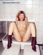 Excited Alexandra Maria Lara Naked Legs Spread In High Heel Boots Fake