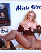 Alicia Silverstone Squeezing Tits Vagina Legs Spread 001