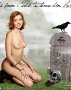 Alyson Hannigan Topless Naked 002