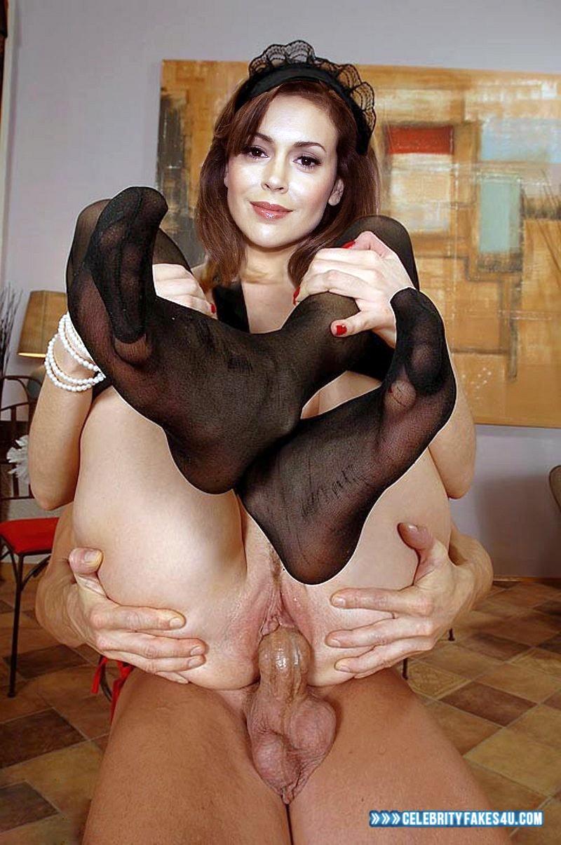 Alyssa Milano Sex Fakes alyssa milano stockings getting screwed sex 001 « celebrity