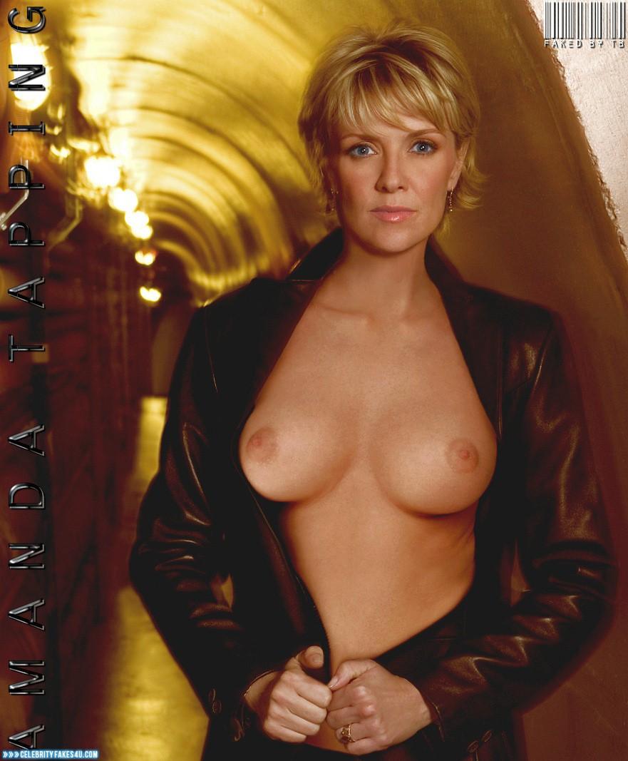 Amanda Tapping Boobs amanda tapping exposing breasts 001 « celebrity fakes 4u