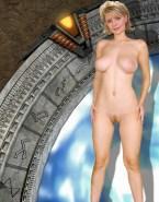Amanda Tapping Pantieless Nude Body 001