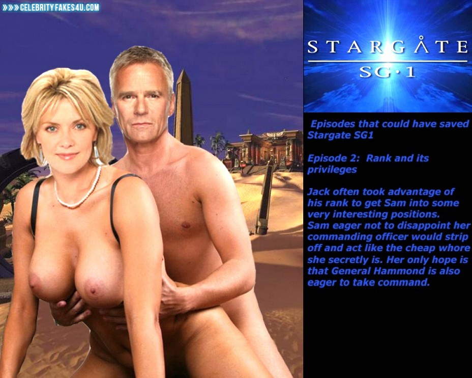 Amanda Tapping Fake, Big Tits, Doggystyle Sex, Stargate SG-1, Porn