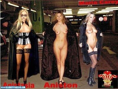 Anastacia Fake, Blonde, Flashing Tits, Glasses, Legs, Lingerie, Multi, Naked Body, Nude, Public, Stockings, Tits, Porn