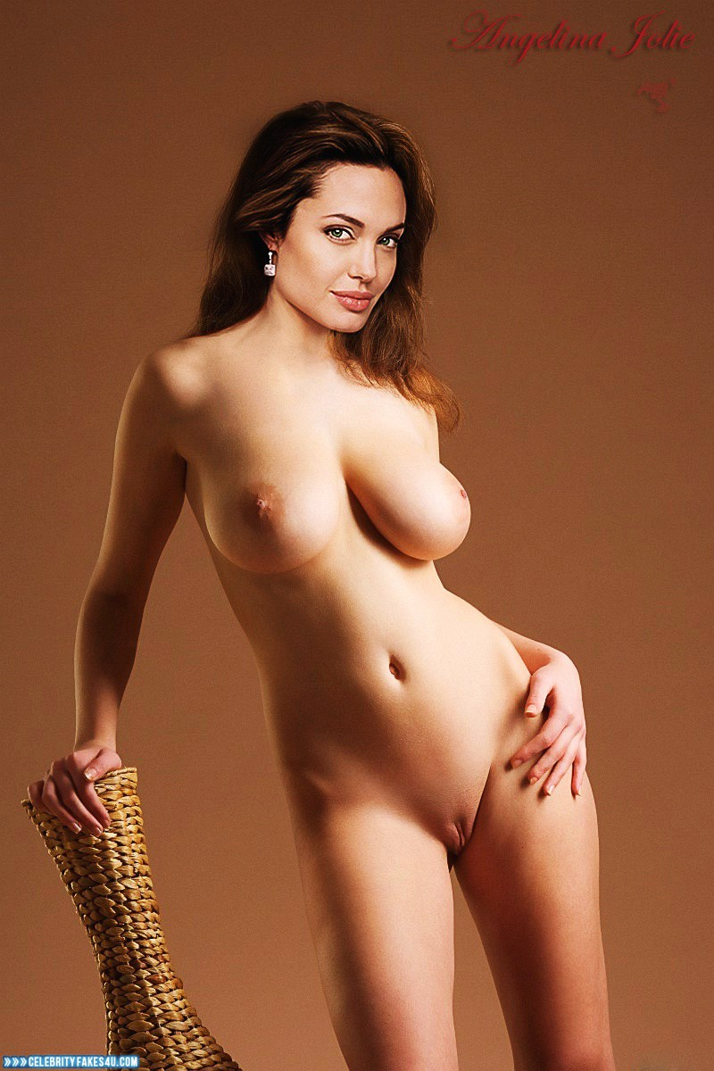 Angelina Jolie Fake, Camel Toe, Completely Naked Body / Fully Nude, Nude, Pussy, Tits, Very Nice Tits, Porn
