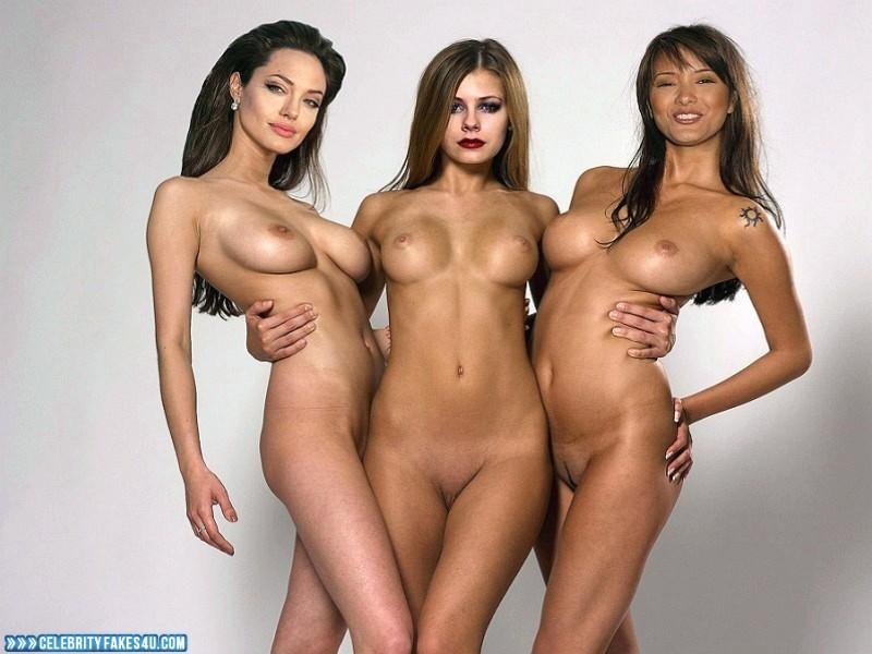 Angelina Jolie Fake, Lesbian, Multi, Naked Body, Nude, Tits, Porn