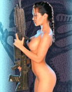 Angelina Jolie Nude Body Tomb Raider 001