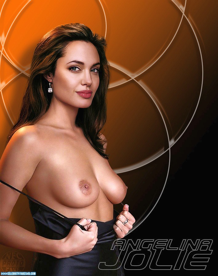 Angelina Jolie Fake, Flashing Tits, Nude, Tits, Porn