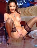 Angelina Jolie Squeezing Tits Pussy Fingering Naked 001