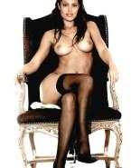 Angelina Jolie Stockings Boobs Nude 001