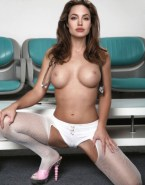 Angelina Jolie Stockings Breasts 001