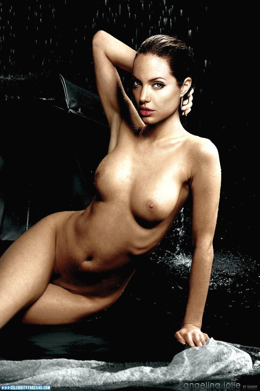 Angelina Jolie Fake, Horny, Naked Body, Nude, Tits, Wet, Porn