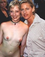 Anne Heche Nipples Pierced Lesbian Nude Fake 001