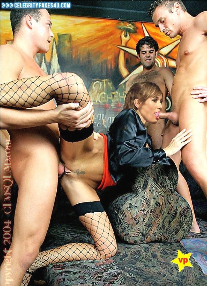 Annemarie Warnkross Fake, Blowjob, Deep Sex, Fishnet Stockings, Gangbang, Stockings, Porn