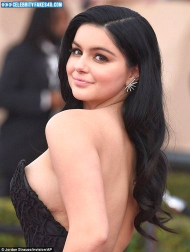 Ariel Winter Fake, Red Carpet Event, Sideboob, Porn
