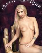 Avril Lavigne Tits Blonde Fake 001