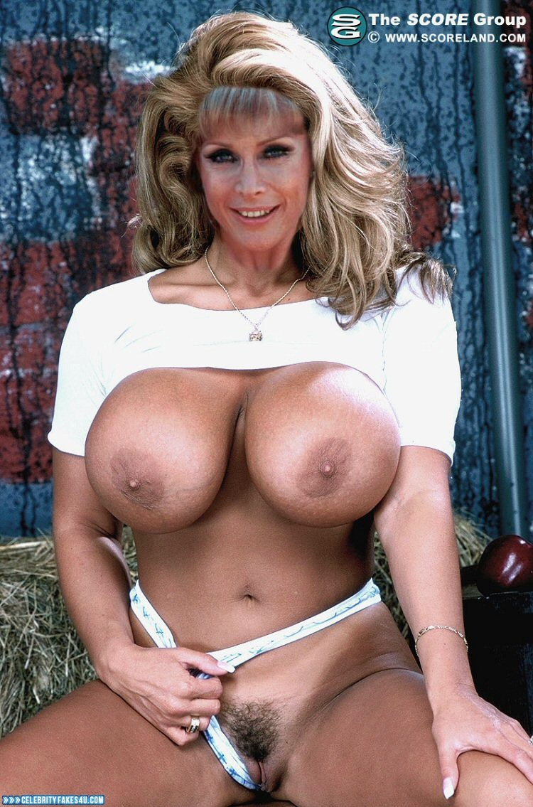 Barbara Eden Fake, Panties Pulled Aside, Pussy, Tits, Very Nice Tits, Porn