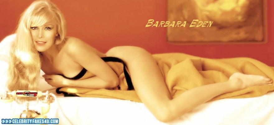 Barbara Eden Fake, Blonde, Nude, Sexy Legs, Porn