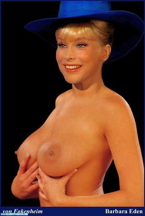 Barbara Eden Fake, Squeezing Breasts, Tits, Very Nice Tits, Porn