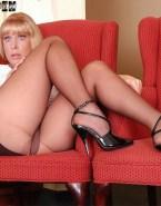 Barbara Eden Stockings Pantiless Naked 002