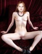 Bonnie Wright Latex Legs Spread Fake 001