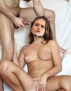 Brie Larson Loves Drinking Cum Spread Pussy Porn Sex 001