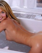 Britney Spears Bath Bent Over 001