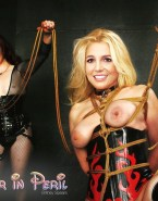 Britney Spears Bondage Boobs Squeezed 002