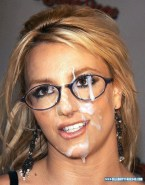 Britney Spears Glasses Cum Facial 001