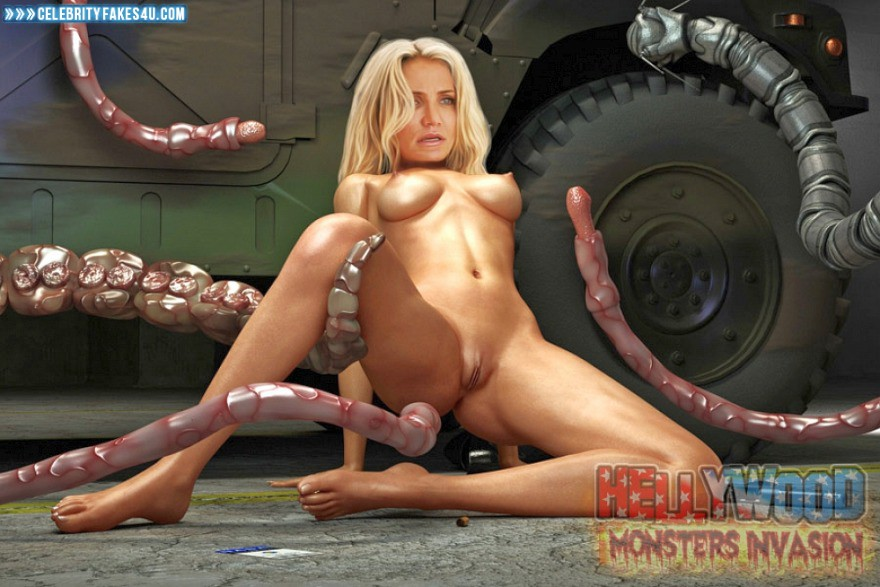 Cameron Diaz Fake, BDSM, Bondage, Cartoon, Legs Spread, Pussy, Porn